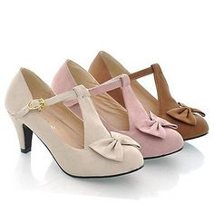 low heels with bow.
