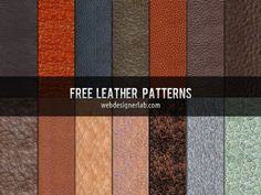 14 leather patterns that you can combine with different textures to make great backgrounds for all sorts of projects, from websites to flyers or invitations.