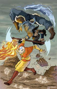 Aang And Korra Colors by FantasiesAndFathoms on DeviantArt Avatar Aang, Zuko And Katara, Avatar The Last Airbender Funny, Team Avatar, Avatar Airbender, Blue Avatar, Best Cartoon Shows, Avatar Fan Art, Avatar Cartoon