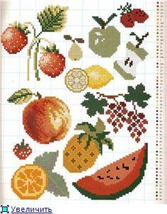 Схемы для вышивания для кухни и столовой fruit