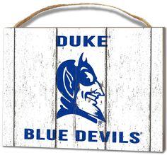 Duke Blue Devils Small Plaque - Weathered Logo