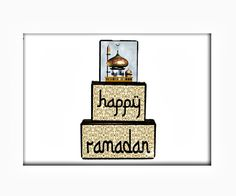 Happy Ramadan Decoration, Islamic Festival, Iftar Hostess Gift, Ramadan Gift for Kids, Muslim Religious Celebration, Ramadan Wood Blocks