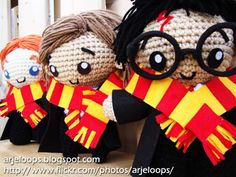 Arjeloops Harry Potter and Friends Crochet Dolls by Arjeloops on deviantart.com