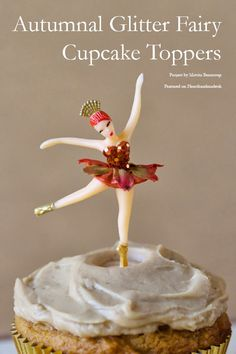 Glitter Fairy Cupcake Toppers for Fall/Autumn featured on @hearthandmadeuk