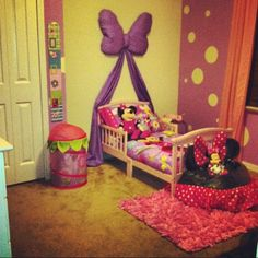 I love the bow idea, verses the princess theme for when she moves up to a toddler bed