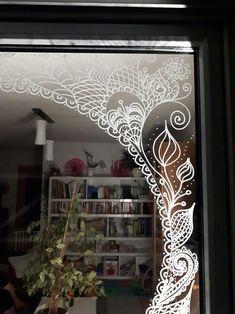 'Magenta Garden - watercolor & ink leaves' iPhone Case by micklyn Fashion Window Display, Store Window Displays, Christmas Chalkboard Art, Cute Curtains, Christmas Window Decorations, Rustic Room, Window Art, Window Design, Window Coverings