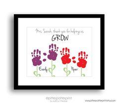 Gift for Teacher Nanny Daycare Babysitter by PitterPatterPrint