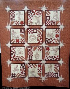 Really like this. The stars give it a glittering effect... Not a clown fan, but you could do something else in the light blocks. Highlights from the 2014 Tucson, Arizona Quilt Fiesta (continued)