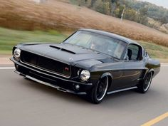 1967 Ford Mustang Fastback Front View, Husband would love this.