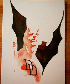 Daredevil and Batman by Dustin Ngyuen