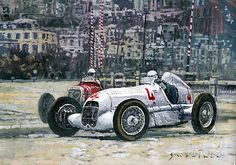1935 Monaco GP Mercedes-Benz W25 #4 L. Fagioli winner by Yuriy Shevchuk
