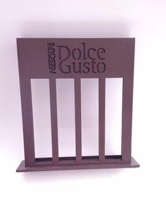 Porta Cápsulas para café Dolce Gosto em mdf, pintado na cor marrom café.