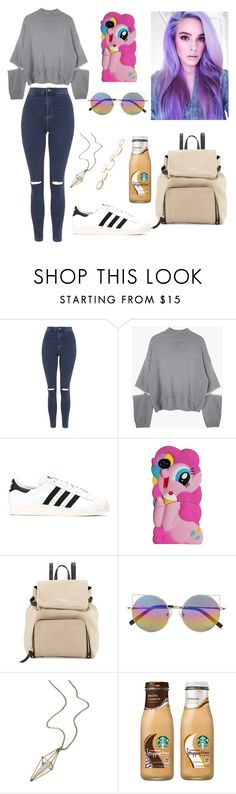 """""""Untitled #137"""" by rebecapaynefarro on Polyvore featuring Topshop, adidas, My Little Pony, Kate Spade, Linda Farrow, maurices and Charlotte Russe"""