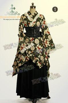 Fanplusfriend Wa Lolita: Ajise (hydrangea) in HINA MATSURI Embroidery Lace Cotton Kimono Outfit*4pcs