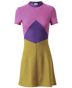 House of Holland contrasting wool striped dress.
