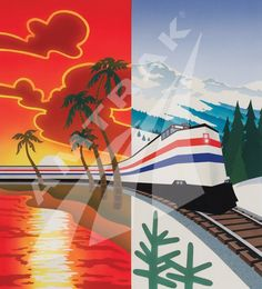 amtrak postcards | From the Beach to the Mountains