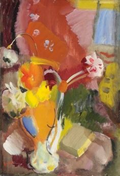 Berkin Arts Ivon Hitchens Giclee Print On Paper-Famous Paintings Fine Art Poster-Reproduction Wall Decor(Flowers Red And Gold) Action Painting, Love Painting, Painting & Drawing, Painting Flowers, Abstract Flowers, Abstract Art, Museum, Artist Art, Paintings For Sale