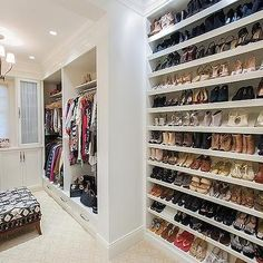 Full Wall Shoe Shelves, Transitional, closet, W Design
