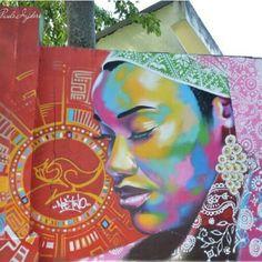 Urban Art Morro do Vidigal, Rio de Janeiro, Brazil