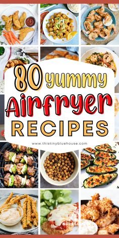 Here are 80 absolutely delicious and healthy air fryer recipes you're just going to love. Healthy Family Dinners, Easy Weeknight Dinners, Best Party Appetizers, Air Fryer Healthy, Dinner Recipes, Dinner Ideas, Air Fryer Recipes, Nutritious Meals, Food Inspiration