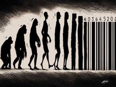 Street Art-Banksy-Would you barcode your baby? Graffiti Art, Banksy Art, Banksy Quotes, Street Art Banksy, Art Quotes, Art And Illustration, Urbane Kunst, Bansky, Charles Darwin