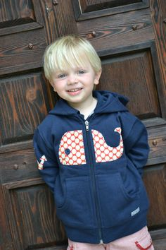 "oh! i looooove this! sheppie needs! ""WHALE Applique Hoodie in Navy with Anchor by SweetThreadsClothing, $36.95"""