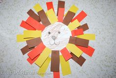 daniel in the lion's den craft for toddlers | Materials: paper plate, colored constrution paper, scissors, glue ...