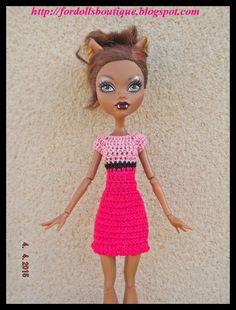 Ropa para Monster High: vestido de Fordollsboutique en Etsy