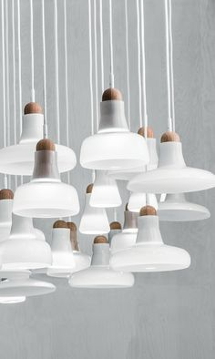 "Small ceiling lamps, inspired by the classic ""studio lamps"". The ""Shadows"" collection is made of hand blown glass and builds on from the popular timeless of traditional French lamps. Shadows are freely based on their original typology, which t"