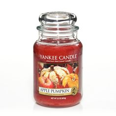 Apple Pumpkin: Yankee Candle:  Cultivated with care . . . home-grown apples and pumpkins blended with ginger and clove.
