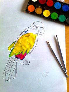 Parrot My painting - work in progress