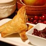 Leftover Turkey, Stuffing and Cranberry Puff Pastry Turnovers