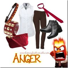 Disney Bounding With The Disney Fashionista- Anger From Inside Out!