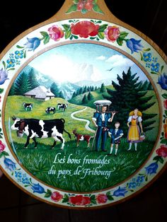 Vintage Cheese Board Souvenir From Fribourg France by SweetPeaVintageTwo on Etsy