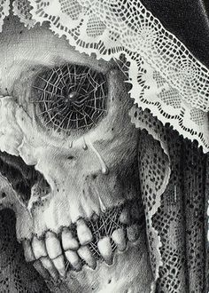 "drawing by Laurie Lipton – ""Carnival of Death"""