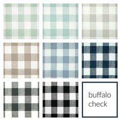 10% OFF Buffalo Check Drapery Panels. Pair of by thebluebirdshop
