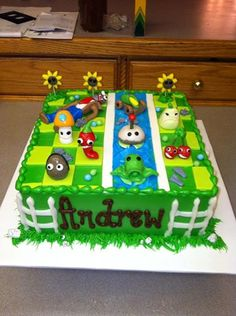 Plants vs Zombies cake 9th Birthday Cake, Zombie Birthday Parties, Zombie Party, Boy Birthday, Halloween Party, Plants Vs Zombies, Ninjago Cakes, Birthday Numbers, Cute Cakes
