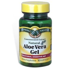 Spring Valley Aloe Vera Gel 25 mg Concentrated Extract 50 Softgels by Spring Ulcer Diet, Diverticulitis Diet, Ibs, Gut Health, Health Tips, Health And Wellness, Holistic Remedies, Natural Health Remedies, Peptic Ulcer