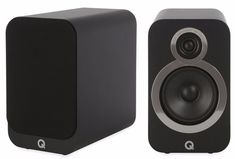 Q Acoustics Speakers bring an open and room-filling sound to your music, despite their slim-line and compact size. With precision drivers, and developed power-to-size ratio, these speakers are a key addition to any hi-fi system. Home Cinema Speakers, Rear Speakers, Audio Speakers, Best Hifi, Cool Bookshelves, Hi Fi System, Stereo Amplifier, Bookshelf Speakers, Carbon Black