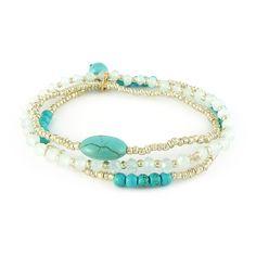 Armbandenset turquoise zilver | Gewoon! Sieraden