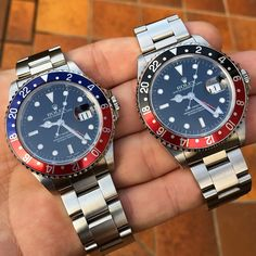 """Pepsi or Coke for you? #rolex #GMT #GMTmaster #16710 #rolex16710 #jewelry #fashion #lifestyle #style #pepsi #coke #wristporn #wristshot #travel #time…"""