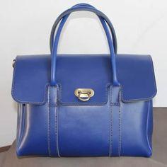 Handmade Artisan Leather Women's Handbag / Satchel / Purse in Blue