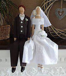 Bábiky - Svadobný pár - 8097221_ Jasmine, Victorian, Inspiration, Handmade Dolls, Dresses, Decorations, Fashion, Amigurumi, Manualidades