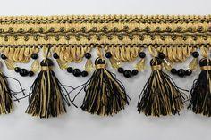 Tassel Fringe W Bead Dw0504092 A2 Black/Gold
