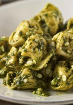 Parmesan-Pesto Tortellini — Ready-made pasta makes this cheesy tortellini a 20-minute recipe. Add fresh basil, Parmesan cheese, garlic and olive oil and it's ready to serve.