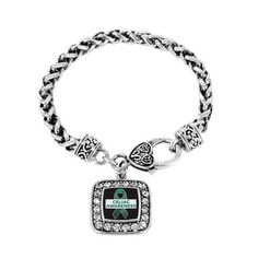 Celiac Awareness Classic Braided Charm Bracelet