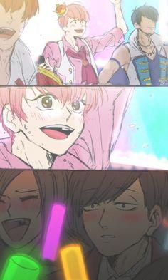 F6 Todomatsu & Atsushi Me: I can feel a ship coming on...