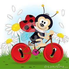 Joaninha na bicicleta