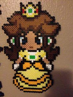 princess daisy perler pattern - Google Search