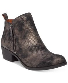 Lucky Brand Women's Basel Booties $129.00 Lucky Brand's Basel booties are the perfect utilitarian style. You can pair them with just about anything and always look stylish.